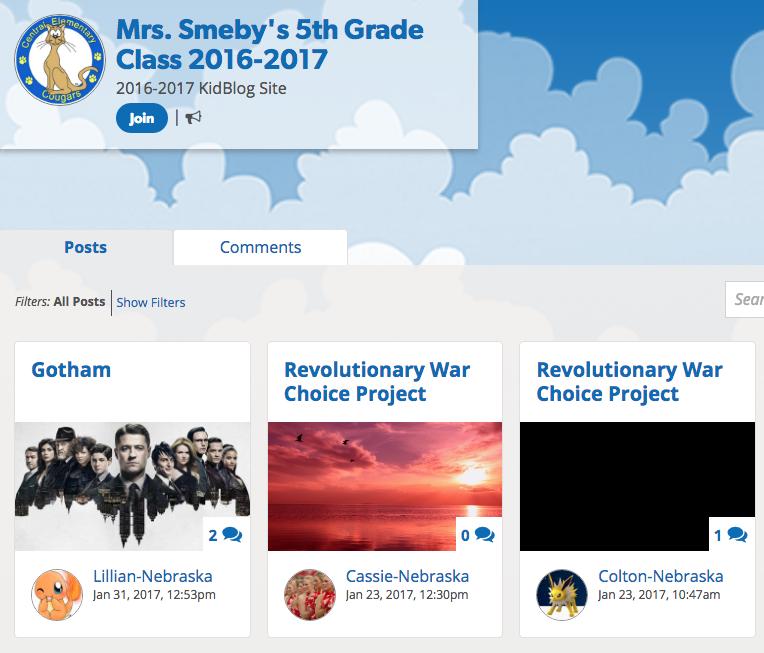 5th grade class blog