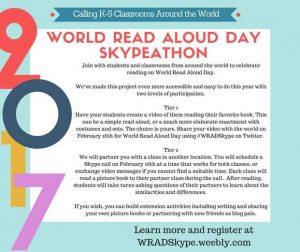 world read aloud day skype